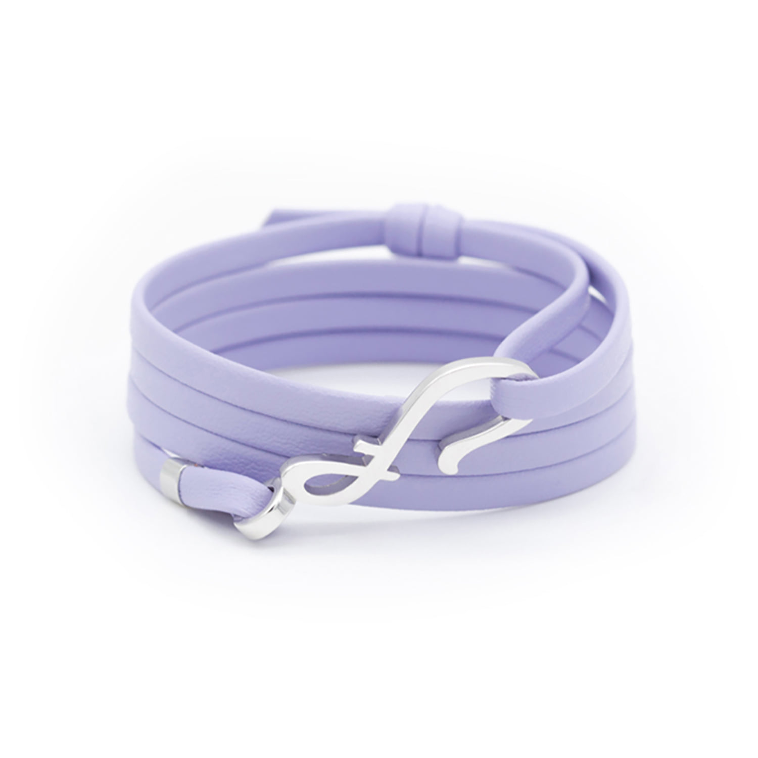 Hook leather - light purple